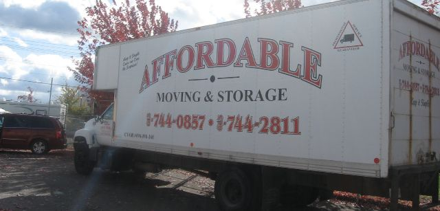 AAA Affordable Moving truck