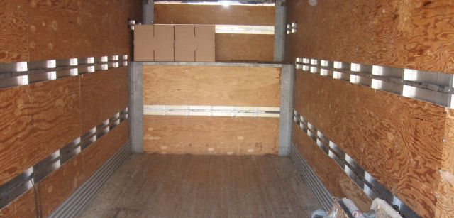 Interior of moving truck